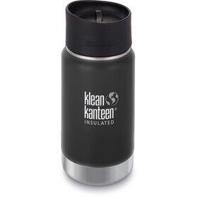 Klean Kanteen Wide Vacuum Insulated Drinkfles Café Cap 2.0 355ml zwart